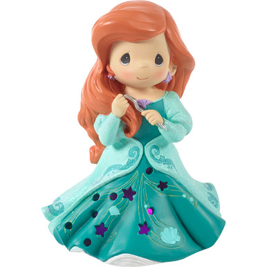 Disney Showcase Collection Resin Music Box Ariel LED Cutout Dress Musical
