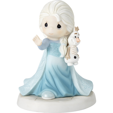 Disney Showcase Collection Bisque Porcelain Figurine, There's Snow One Like You Elsa