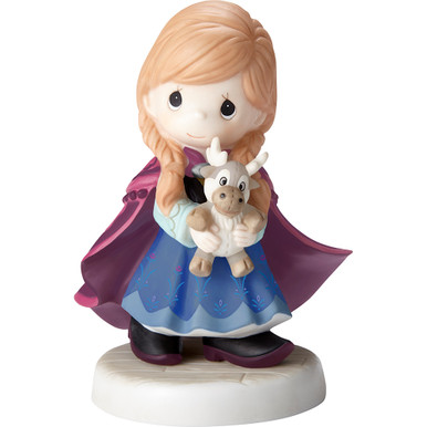 Disney Showcase Collection Bisque Porcelain Figurine, You're So 'Deer'To Me Anna
