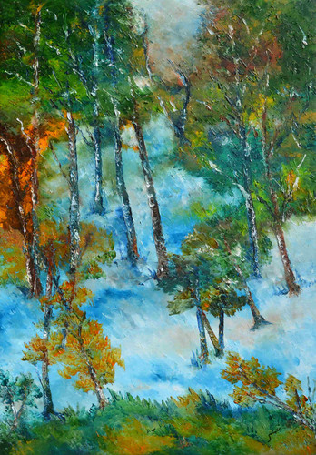 subtle nuances of Mother Nature lll- oil on Canvas painting- Buy art- Artswel online art gallery