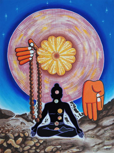 THE SUPREME POWER OF CHAKRAS painting
