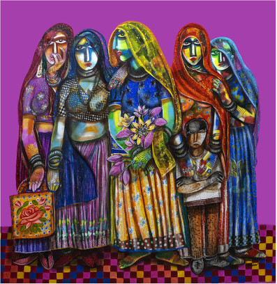 Indian Women buy art and painting from artswel artgallery
