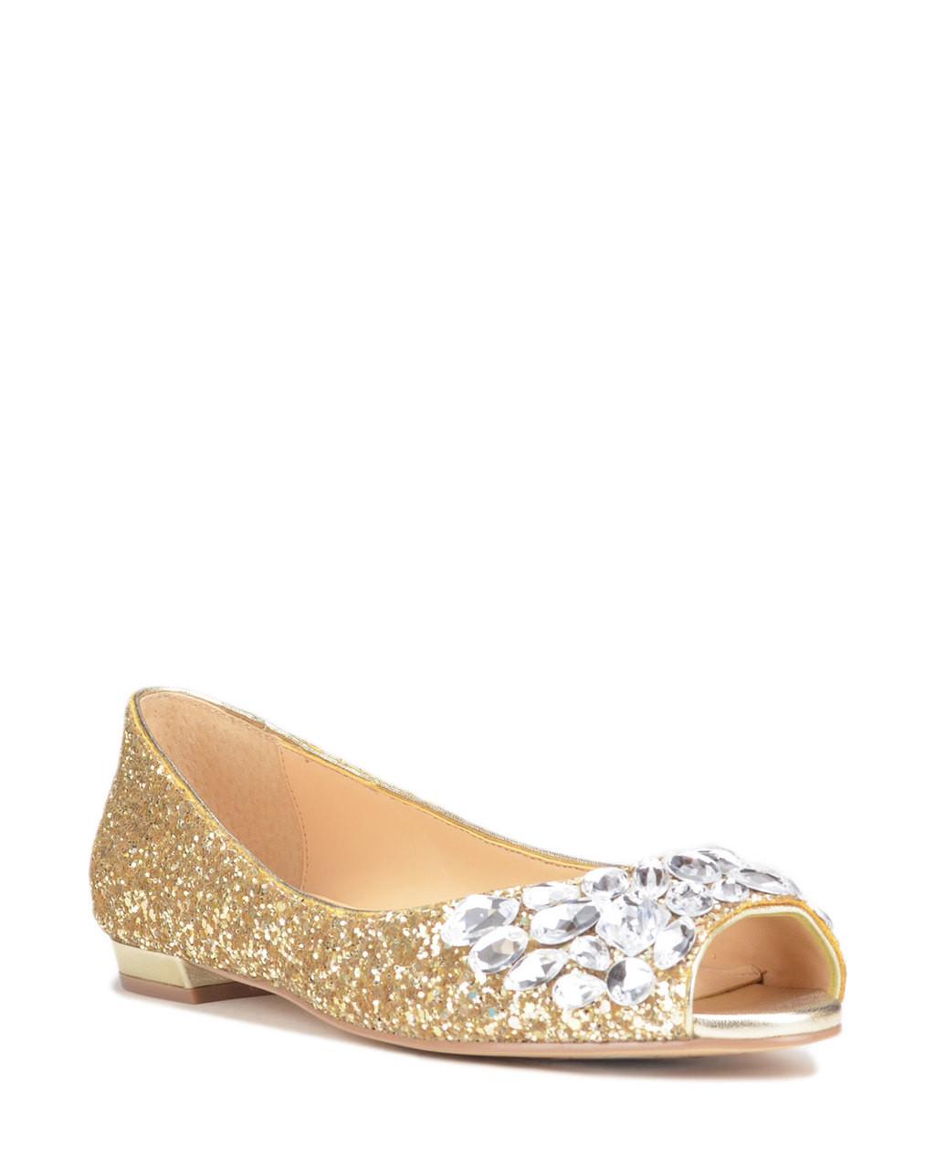 b37786ce9 Claire Metallic Glitter Ballet Flat from Jewel by Badgley Mischka