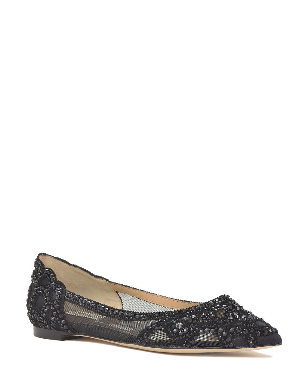 ab76e6c83566 Gigi Pointed Toe Flat Evening Shoe by Badgley Mischka