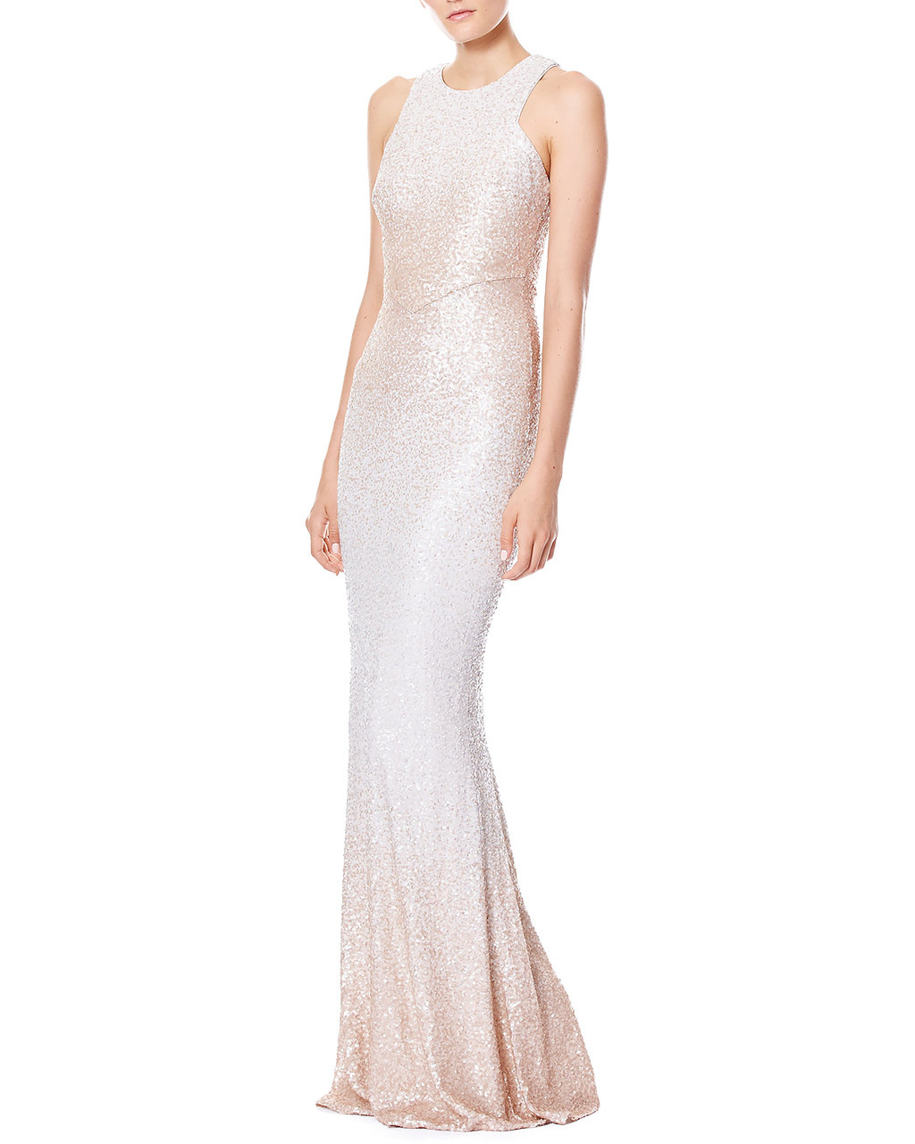 22baaf0867e57 Ombre Sequined Evening Gown