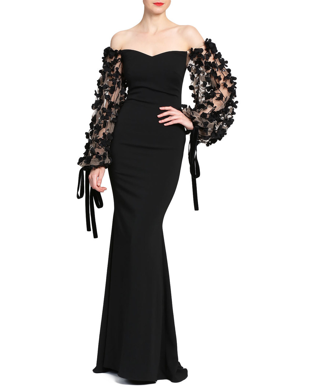 61b6d1520a92 Odessa Off the Shoulder Evening Gown by Badgley Mischka