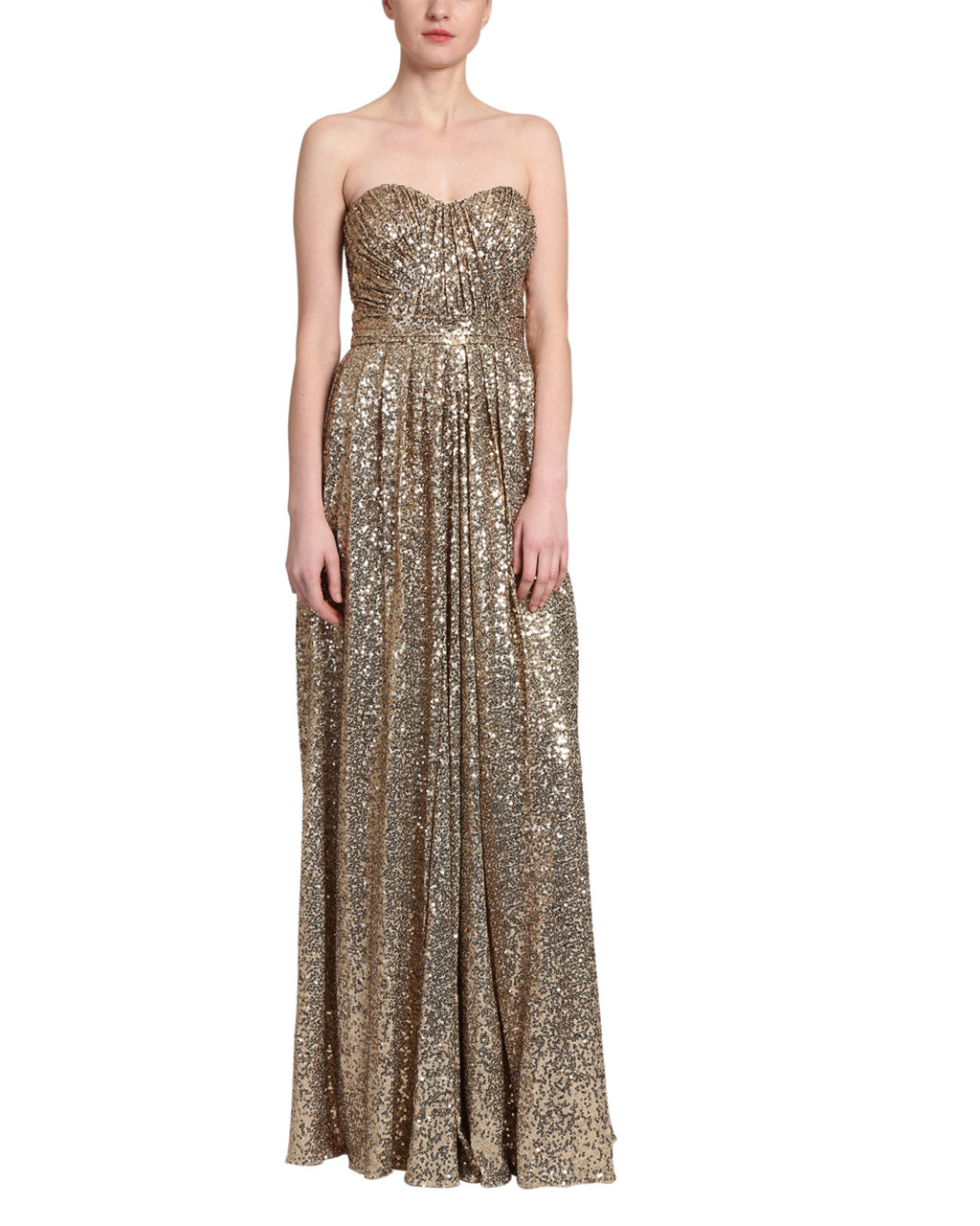 4a5208fefe4 Sequin draped gown by Badgley Mischka