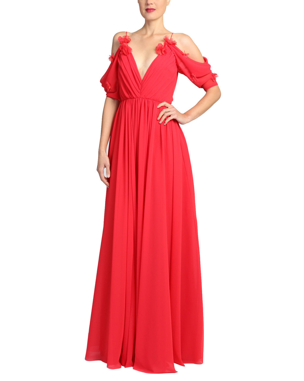 df2a5e323af Draped Sleeve Gown by Badgley Mischka