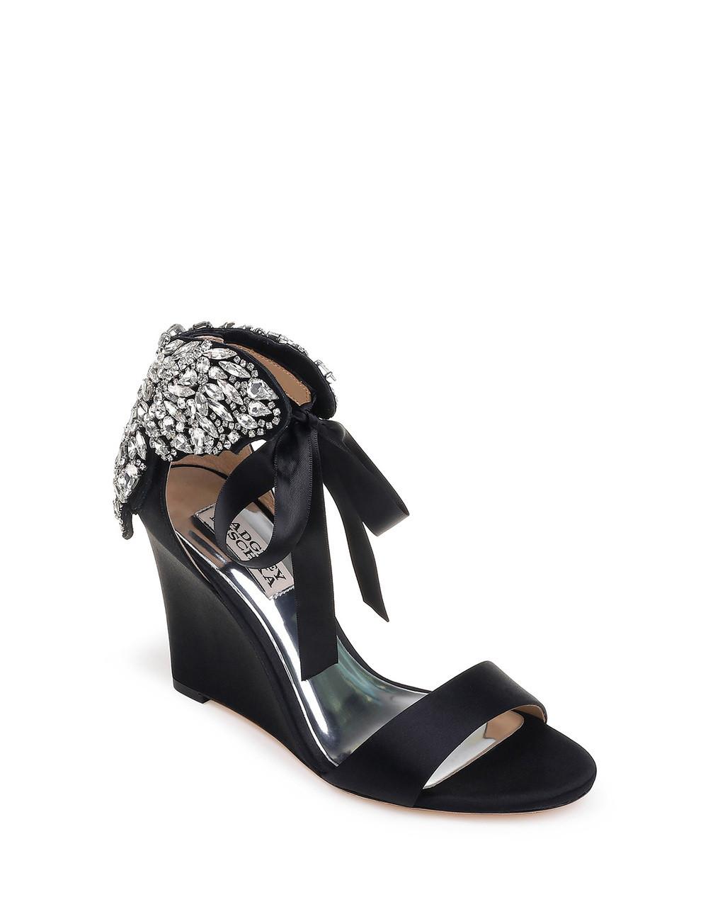 858f853e8f6 Heather Embellished Wedge Evening Shoe by Badgley Mischka