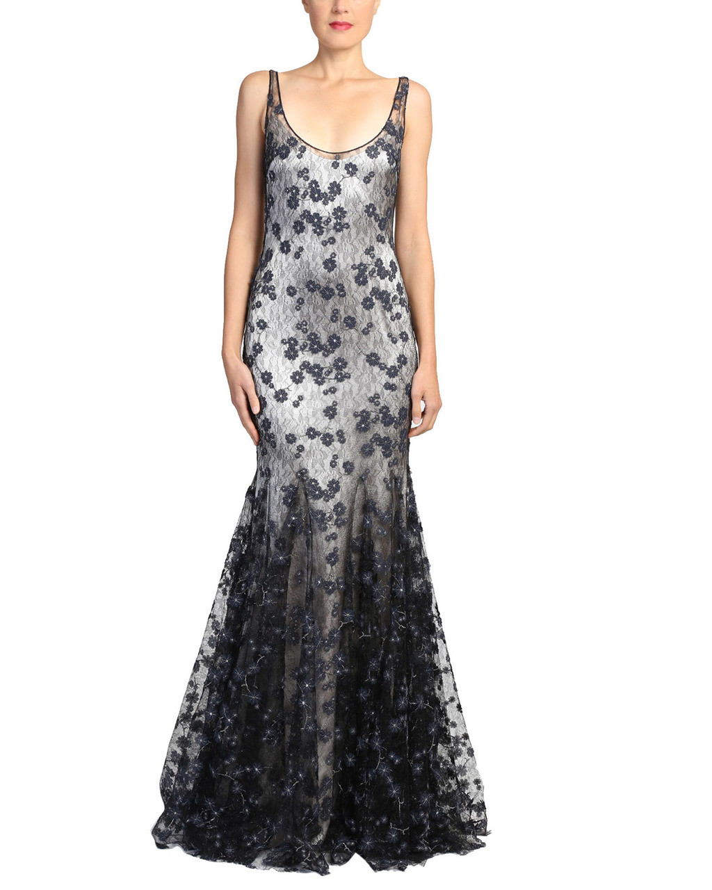 Slip Lace Evening Gown