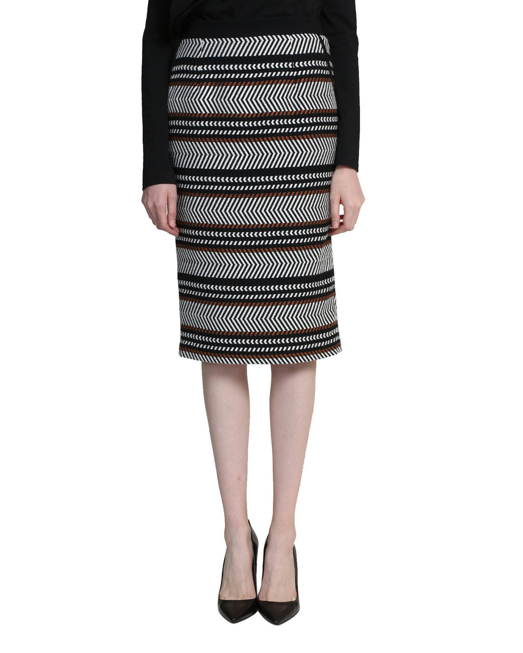 1ee5aec93 Aztec Jacquard Skirt by Badgley Mischka
