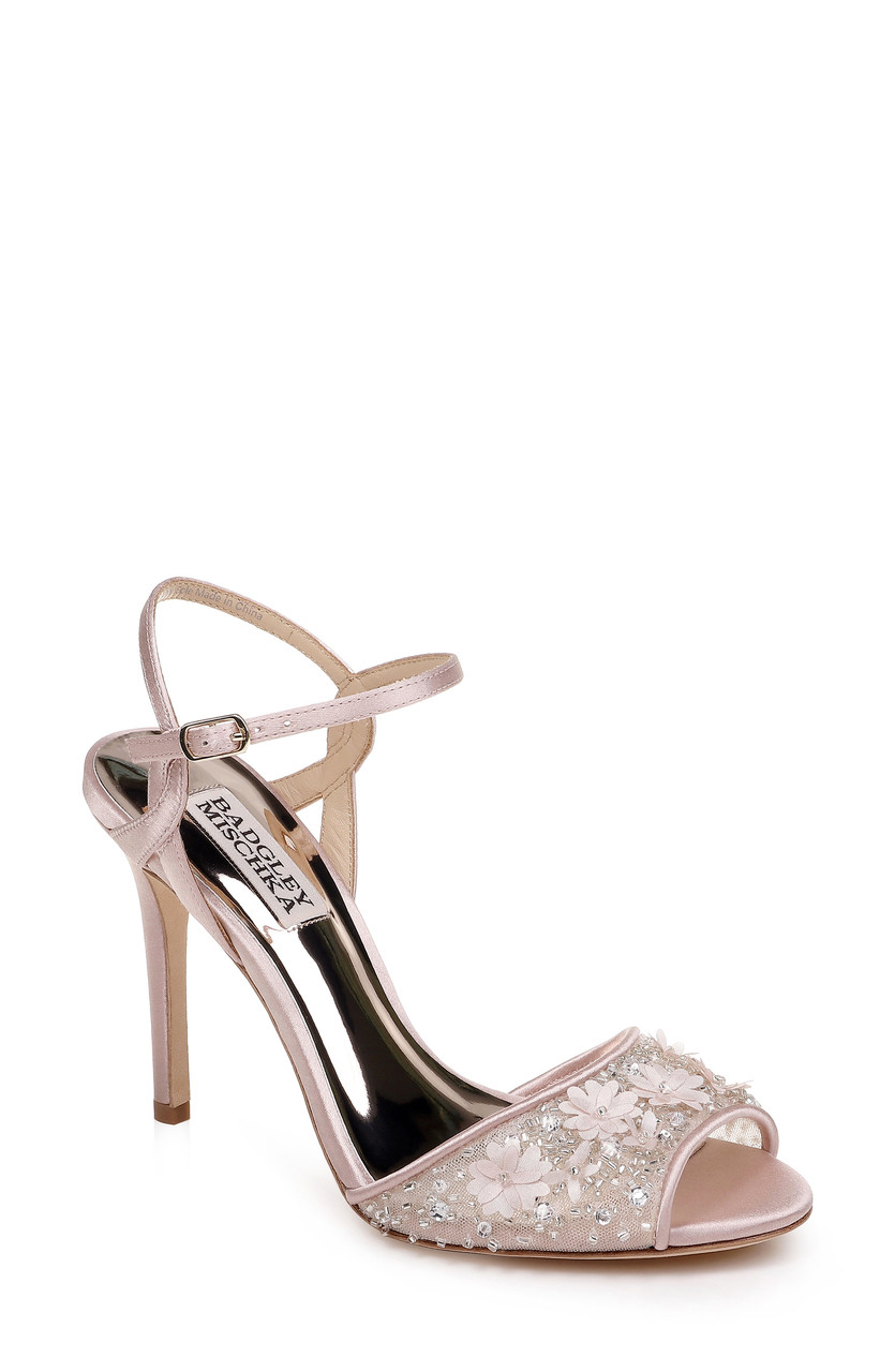 07fe6e6e0853c1 Isabella Ankle Strap Mesh Toe Sandal by Badgley Mischka