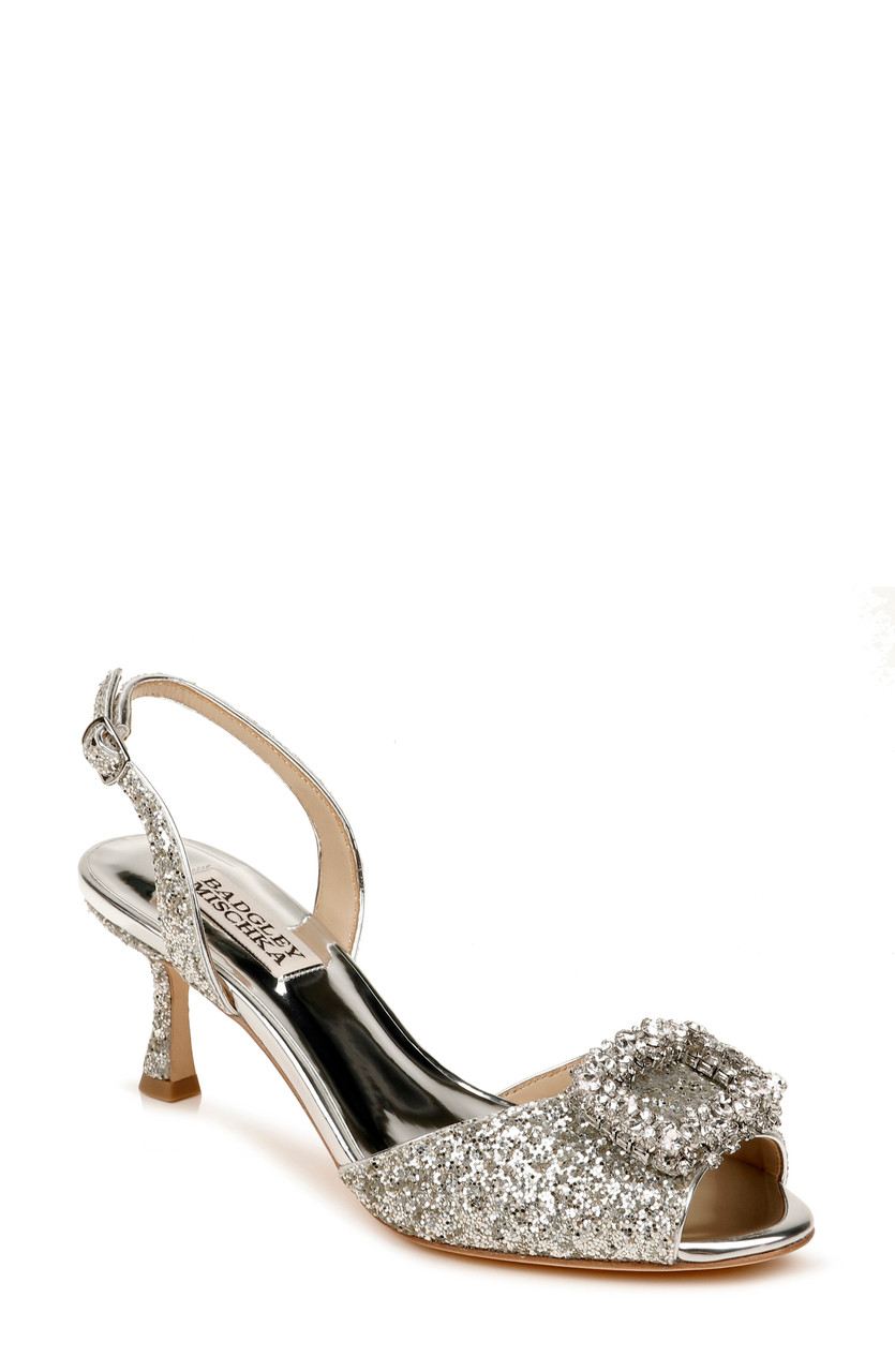 Gaela Embellished Kitten Heel by