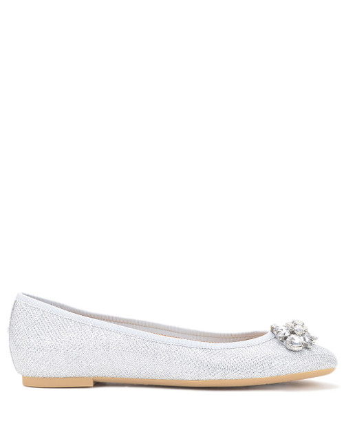 0394303a9 Cabella Woven Glitter Ballet Flat from Jewel by Badgley Mischka