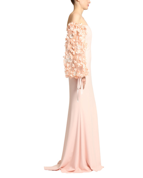 ca6bdc2e6f2e Odessa Off the Shoulder Evening Gown by Badgley Mischka