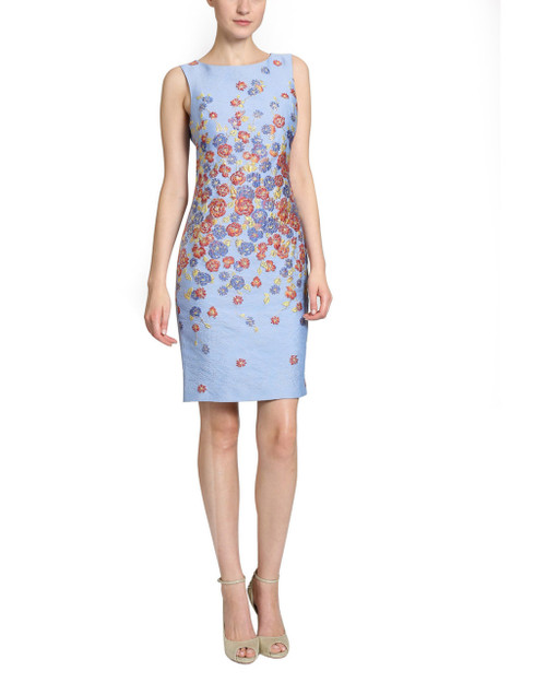 20329479 Dolman Sheath Day Dress by Badgley Mischka
