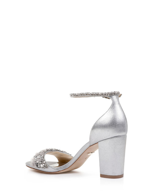 1482c94d8 ... Platino Finesse II Ankle Strap Evening Shoe Back ...