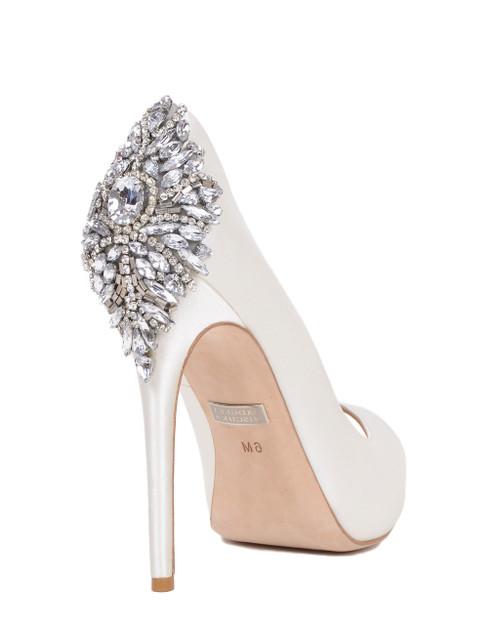 Kiara Embellished Peep-toe Pump by