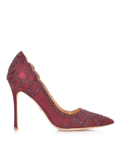 badgley mischka burgundy shoes