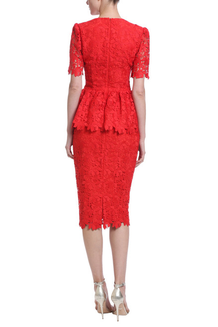 74787cdc86ecd red lace peplum cocktail dress, v-neck, pencil skirt hitting just below the