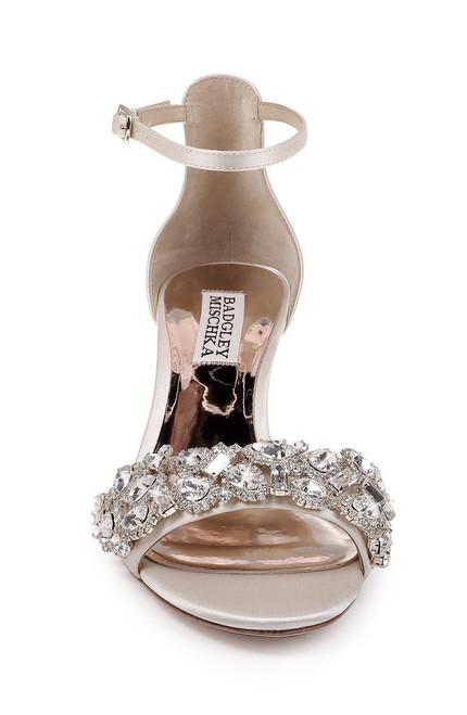 91ffb9b57d1c ... Ivory Lara Crystal Embellished Kitten Heel ...