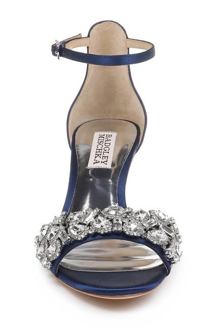 2f0fb2fbcb32 ... Navy Lara Crystal Embellished Kitten Heel ...