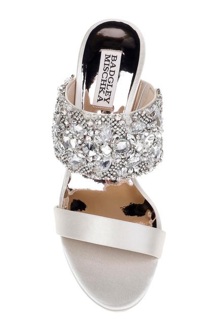 4cac8fbd55292 Ivory Linda Crystal Embellished Strap Kitten Heel