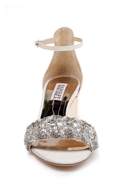 19bc7b1b9 ... Ivory Liz Embellished Toe Strap and Ankle Strap Evening Shoe Alt Front  ...