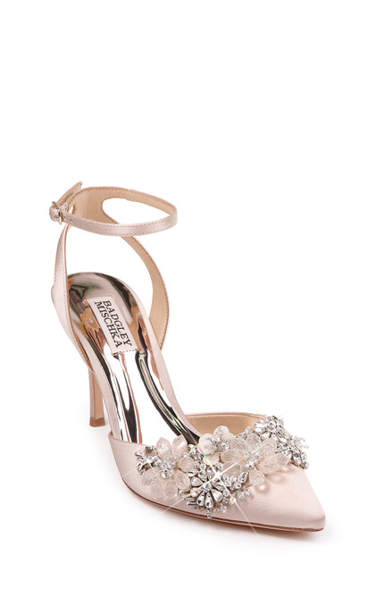 8064a6cb26b5a Nude Alice Crystal Embellished Evening Shoe Front