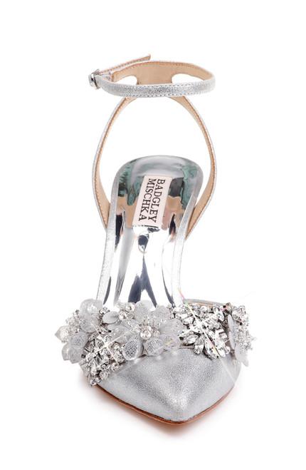d6a1e02e57 Silver Alice II Crystal Embellished Evening Shoe Alt Front