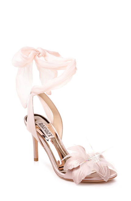 f166e3fb58 Blush Almira Flower Embellished Ankle Wrap Front