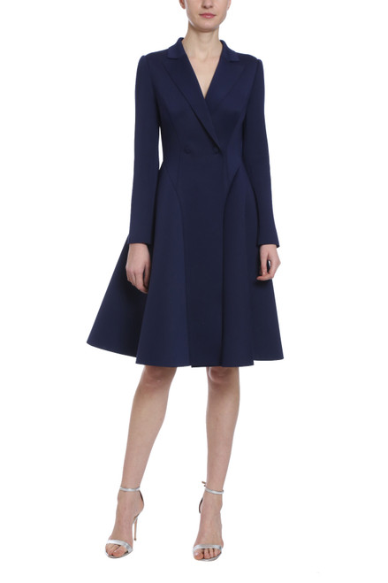 b9732e51 Sapphire Scuba Coat Dress Front. Sapphire Scuba Coat Dress Side. Sapphire  Scuba Coat Dress Back