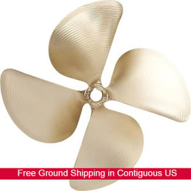 "ACME 1235 -  14-1/2X14-1/4LH 4-Blade Wakeboard / Ski / Surf Boat Propeller 1-1/8"" Bore (1235)"