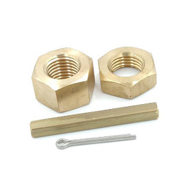 "1"" and 1-1/8"" Inboard Propeller Shaft Nut Kit Set (1"" and 1-1/8"" Shaft Size, 3/4 - 10 THREAD)"