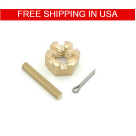 "1"" and 1-1/8"" Inboard Propeller Shaft Castle Nut Kit Set (1"" and 1-1/8"" Shaft Size, 3/4 - 10 THREAD)"