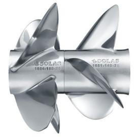 21P Set (LH,RH) Solas Bravo III Stainless Steel Propellers - Front & Rear (1654-160-21,1651-144-21)