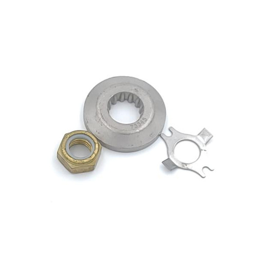 Mercury/Mariner Prop Hardware Kit 30-60 HP 2 and 4 Stroke, 25 HP 4 Stroke 2006 and Newer (Nut, Tab, Thrust Washer)(31990Q02)