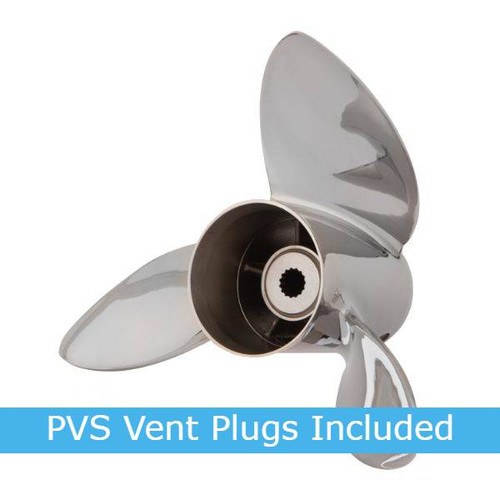 15.125X25 RH Powertech VMX Stainless Steel Propeller For Yamaha w/ Cushion Lok Hub (VMX3R25PCLYX200)