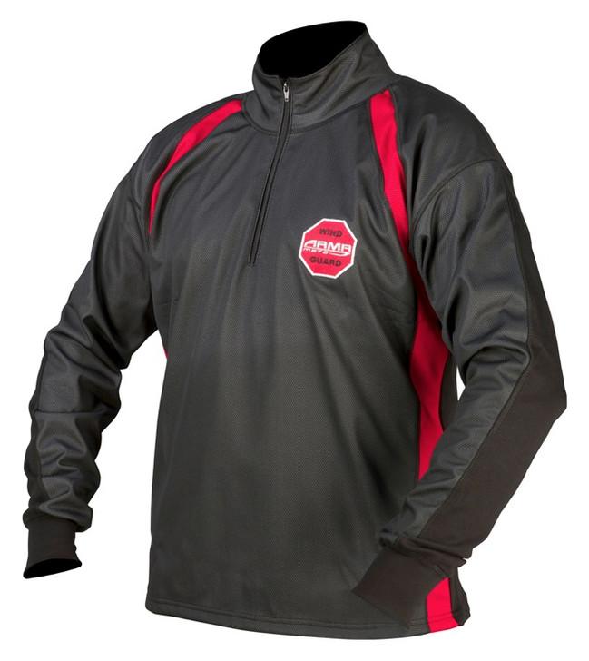 ARMR Moto Wind Guard Shirt - Black / Red