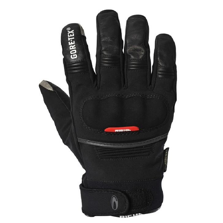 Richa City GTX Gore-tex Short Waterproof Motorcycle Gloves - Black