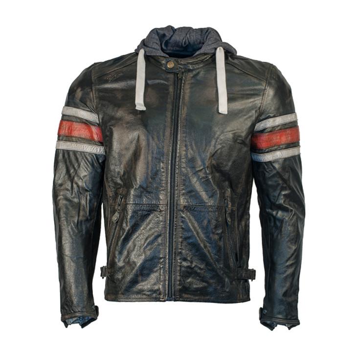 Richa Toulon Leather Jacket - Black / RedRicha Toulon Leather Jacket - Black / Red