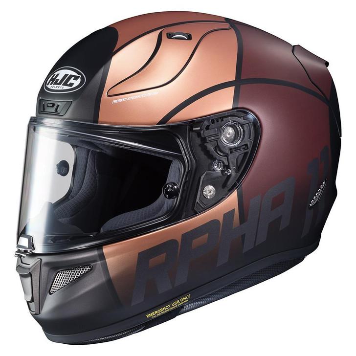 HJC RPHA 11 Quintain Helmet - Gold / Brown / Silver