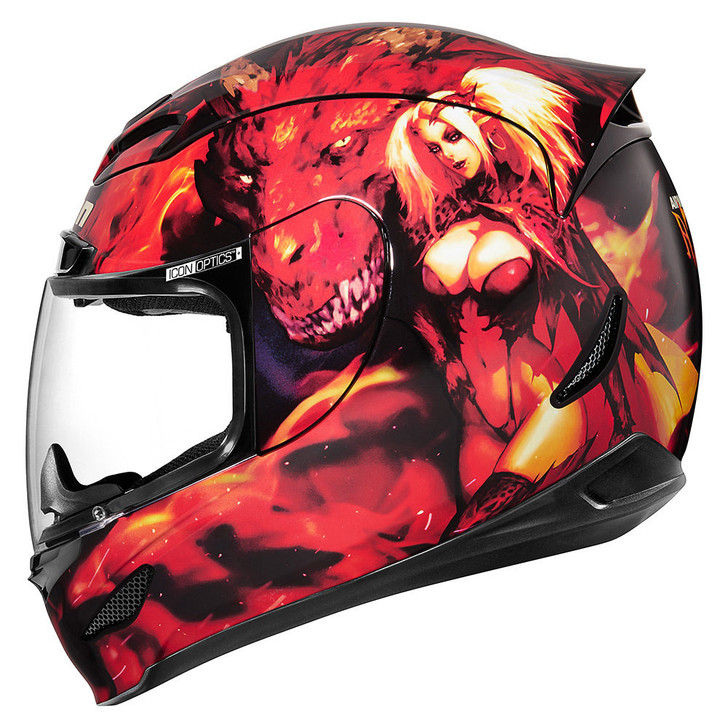 Icon Airmada Azrael Helmet - Red