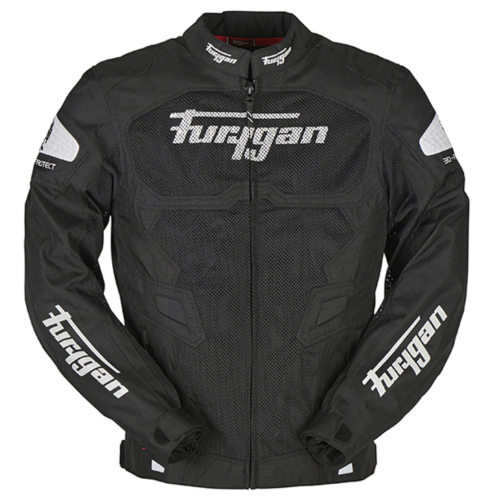 Furygan Atom Vented Jacket - Black / White