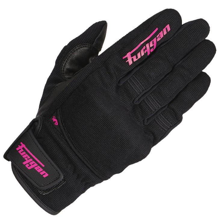 Furygan Jet D3O Lady Gloves - Black / Pink