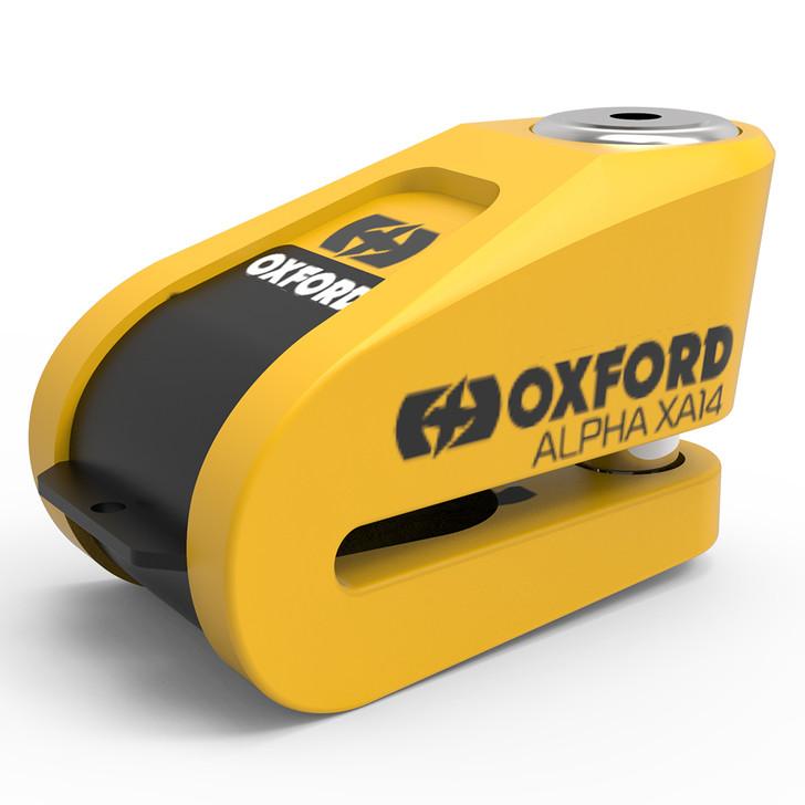 Oxford Alpha XA14 Alarm Disc Lock - Yellow / Black