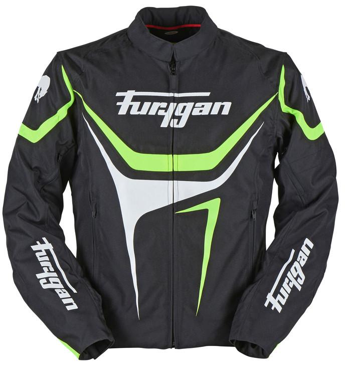 Furygan Oggy Jacket - Black / White / Green