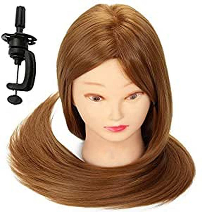 Mannequin Head with 100% Human Hair and clamp