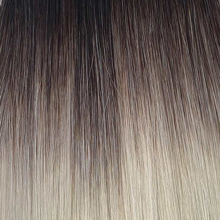 Closeup 20 Inch Nanolink Extension Rooted Silver Blonde
