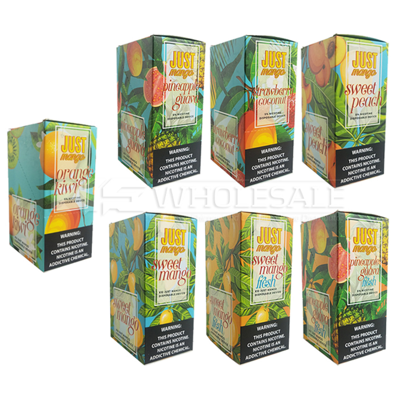 Just Mango 1 2ml Disposable 5% - Pack of 10 Bulk or Single